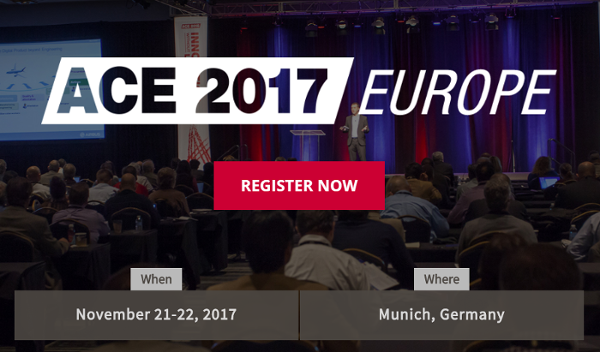 Join us at ACE 2017 Europe on November 21-22!