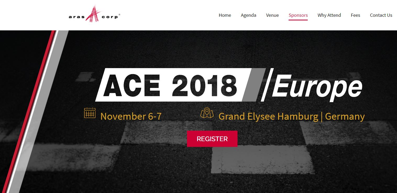 Focus PLM sponsorizza ACE Europe 2018